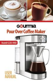 Gourmet coffee is the blend of the very best coffee beans, picked at just the right time, and then. Gourmia Gcm4900 Pour Over Coffee Maker