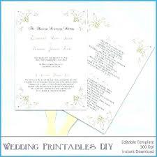 Wedding Programs Template Free Free Ble Paddle Fan Template Great Gold Wedding Program