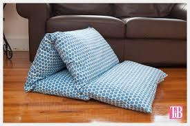 DIY Pillow Lounger using Waverly Fabric