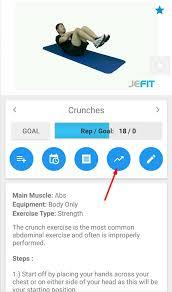 Workout Progress Charts How Do I View My Progress Graphs Jefit