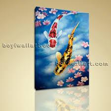 Modern Art Bedroom Giclee Prints On Canvas Feng Shui Zen Wall Art Koi Fish Gallery