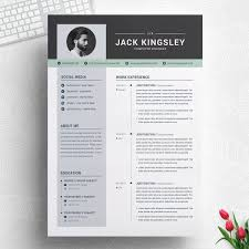 Jack Kingsley Web Designer Resume Template Design Illustration Art