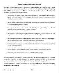 Employee Confidentiality Agreement 42+ Sample Employment Agreements in PDF | Sample Templates