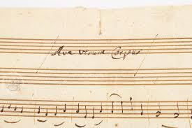 ave verum corpus sheet music w a mozart ave verum corpus kv 618 facsimile edition