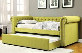 lemongrass upholstered daybed wtrundle  caravana furniture