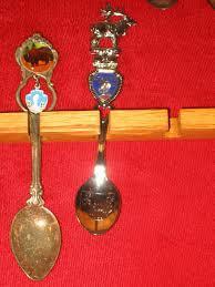 Decorative Display Cases Vintage Lot Of Assorted Decorative Souvenir Spoons Amp Wood