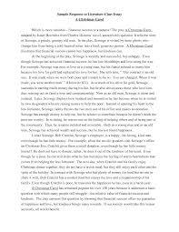 Example Of Literature Essays Argumentative Essay High School Essay On Myself In English