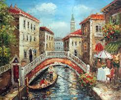 italian cafe paintings italian c gondola couple boat restaurant cafe table oil