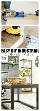 An Easy Way to Build an Industrial Wood Coffee Table