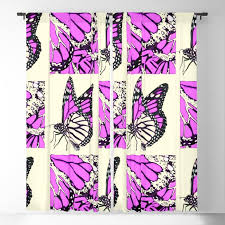 Decorative Fuchsia Pink Butterfly Identification Chart Blackout Curtain By Sharlesart