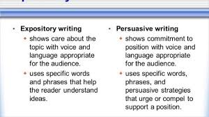 difference between expository and persuasive