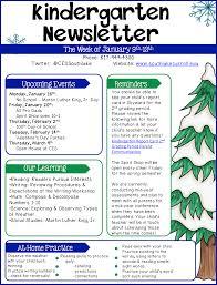 February Newsletter Template Kindergarten Newsletter Example Templates At