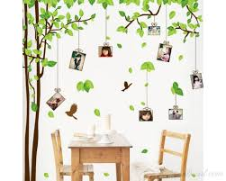 large photo frame wall stickers olive tree decals for children room wall art family wall stickers on family tree wall art picture frame with large family tree wall decals you can place photos around the tree