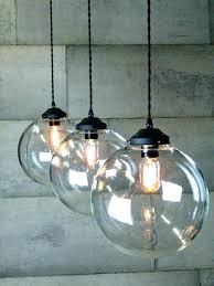 glass ball pendant lighting 1 4 large clear glass ball pendant light glass ball pendant light