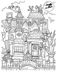 In coloringcrew.com find hundreds of coloring pages of the house and online coloring pages for free. Free Haunted House Coloring Page Free Printable Coloring Pages For Kids