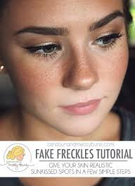 fake freckles tutorial will teach you how to get a sunkissed look in a few easy