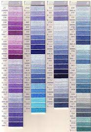 Dmc Sc Perle Colour Chart Columns 5 8 Embroidery