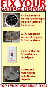 fix garbage disposal
