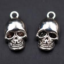 WKOUD 8pcs Antique Silver 3D <b>Skull</b> Charm Hip Hop <b>Necklace</b> ...