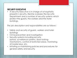 security officer duties and responsibilities job description of security department in hospitality