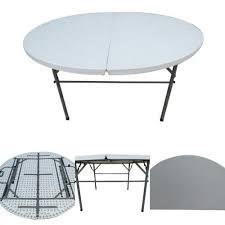 folding round table 5 dia split top