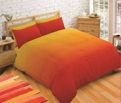 details about ombre orange yellow king size duvet cover