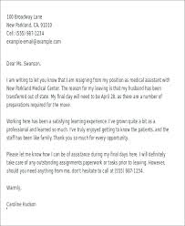 Examples Of Resignation Letter Example Job Resignation Letter