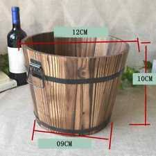 office flower pots. Wooden Round Barrel Planter Flower Pots Office Garden Wedding Decor Cute R