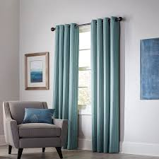 allen roth withern 84 in mineral polyester grommet blackout thermal lined single curtain panel