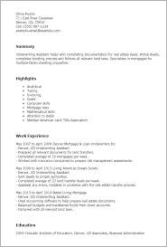 Underwriting Assistant Resumes Professional Underwriting Assistant Templates To Showcase Your