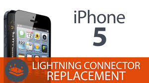 how to replace the iphone 5 lightning connector charging port you