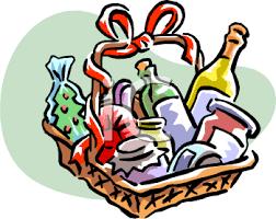 Basket Raffle Prizes Clipart