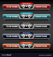 Scoreboard Template Sports Score Template Royalty Free Vector Image 18