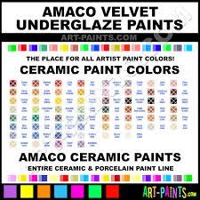 Amaco Velvet Underglaze Ceramic Porcelain Paint Colors