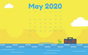 May 2020 Calendar Desktop Wallpaper ...