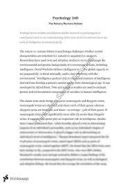 psychology nature nurture debate essay year wace  psychology nature nurture debate essay