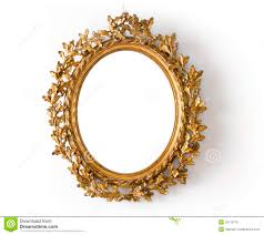 oval mirror frame. Oval Mirror In A Gold Frame