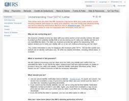 understanding 5071c letter