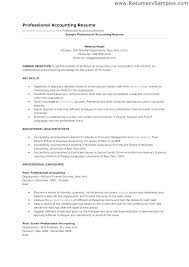 Model Resume For Accountant Wikirian Com