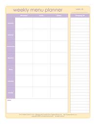 weekly menue planner 20 free menu planner printables fab n free