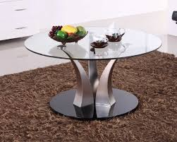 liberty round glass coffee table