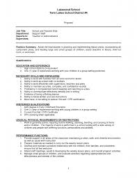 Special Needs Teaching Assistant Cover Letter Sample Special