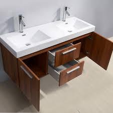 54 double vanity. Brilliant Vanity Virtu USA Midori 54 Inch Double Sink Plum Bathroom Vanity To O