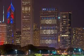 Blue Cross Blue Shield Building Lights
