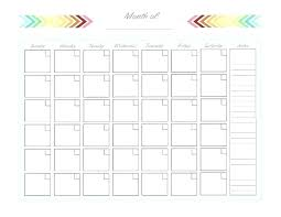 One Page Calendar Template Photo Com Two A Blank 4 Month Per Cal
