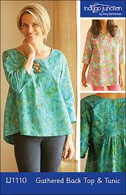 Tunic Top Patterns New Indygo Junction IJ48 Gathered Back Top Tunic