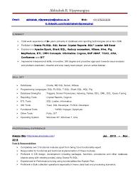 Sql Experience Resume Sample Best of Resume Abhishek Vijaywargiya Databa Pl Sql Developer Resume 24 Years