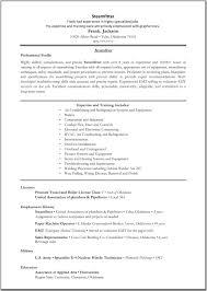 Resume Emt Resume Template