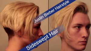 Justin Beiber Hair Style justin bieber hairstyle tutorial mens side swept hairstyle youtube 2711 by wearticles.com