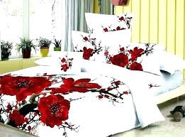 red cabbage rose bedding for comforter sets duvet cover bed in a bag sheets queen